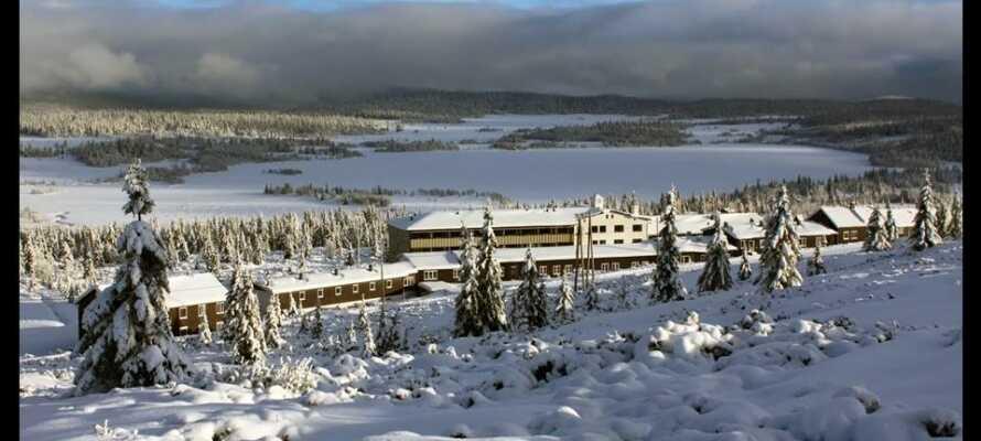 Im Winter bietet das Gebiet um das Hornsjø  Høyfjellshotel gute Möglichkeiten zum Skilaufen.