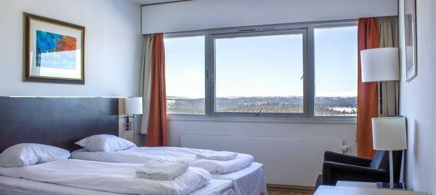Die Zimmer sind modern eingerichtet und haben alle ein eigenes Badezimmer.