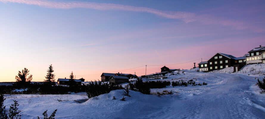 Das Hornsjø Høyfjellshotel ist ein guter Ort, um mit der Familie dort Winterurlaub zu machen.