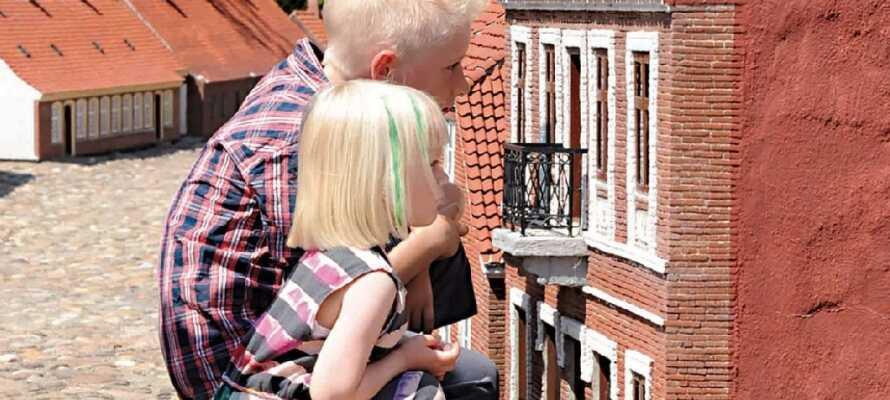 Midt i Varde finner dere Arnbjergparken, som er verdens eldste og mest nøyaktige miniatyrby – Varde Miniby.