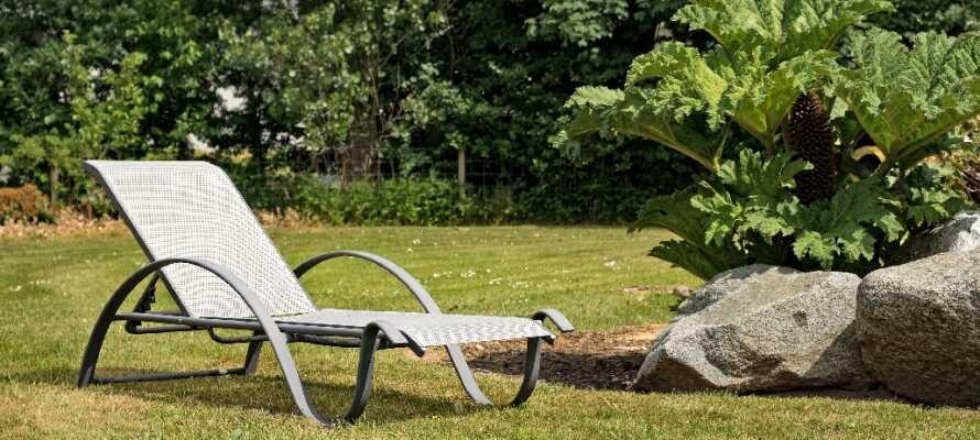 Noen ganger kan det være best å bare slappe av og nyte omgivelsene i hotellets flotte hage.