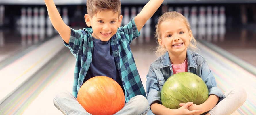 Hotel Søgården tilbyder et ophold med gratis aktiviteter som bowling, billard og compact golf.
