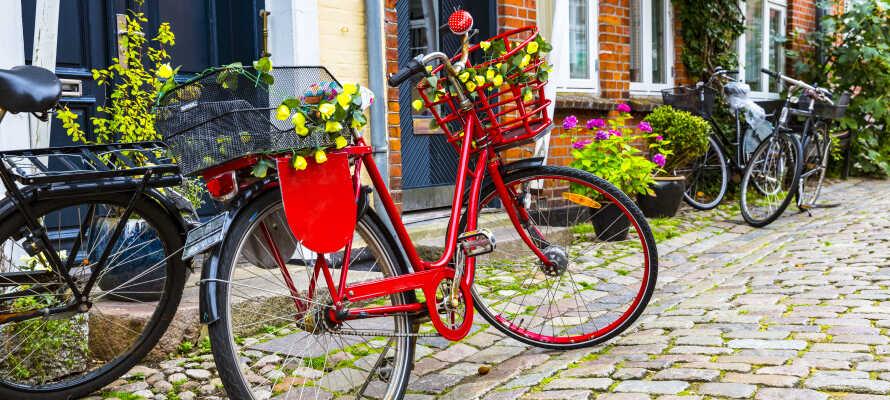 Hotellet har en perfekt placering for en hyggelig dansk ferie i den idylliske, brostenbelagte by, Mariager.