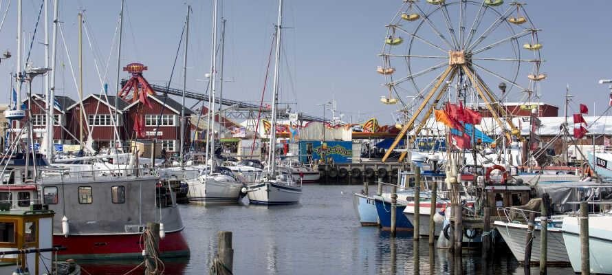 Havnen ligger bare få skridt fra hotellet og her kan I opleve en ganske særlig maritim stemning.