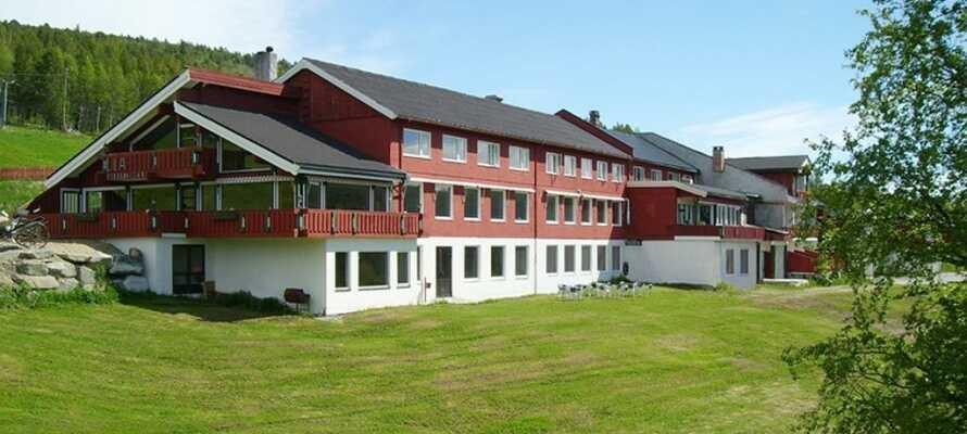 Lia Fjellhotell är beläget 850 meter över havets yta, i natursköna omgivningar.