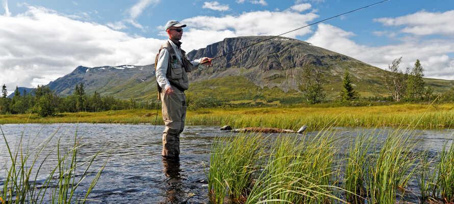 Ta del av de goda möjligheterna till fiske, vandring och cykling.
