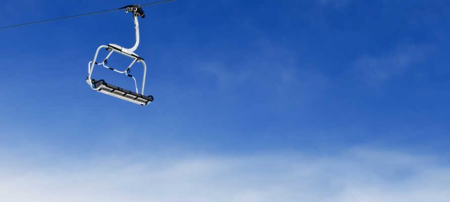 Hotellet har sin egen skilift og om vinteren er der gode muligheder for at stå på langrend i bjergene.