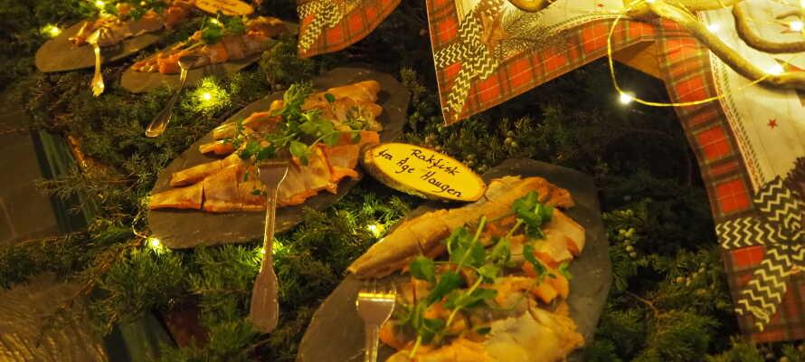 Det serveres deilige retter i hotellets restaurant, slik at dere alltid kan bli mette etter en lang dag i løypene.