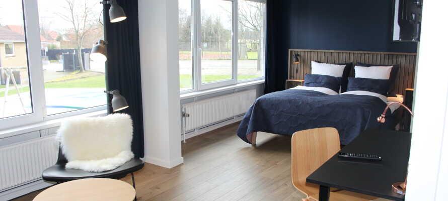 Filskov Kro har flotte lyse standard dobbeltværelser og store skønne suiter