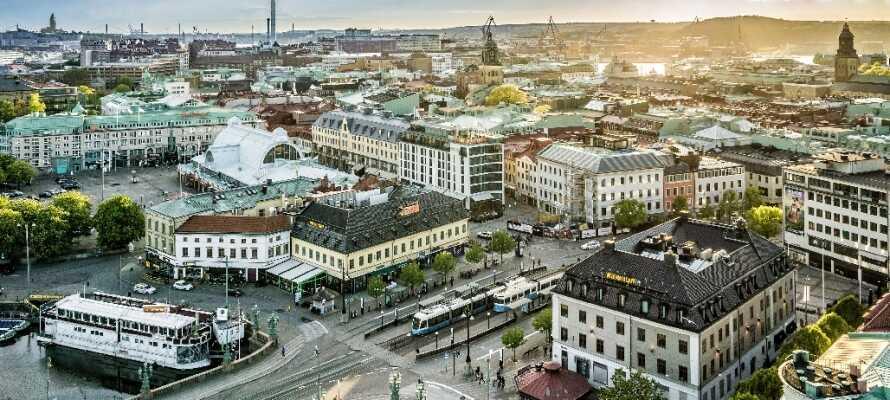 Das moderne Hotel befindet sich im Göteborger Stadtteil Heden in der Nähe vieler Sehenswürdigkeiten.