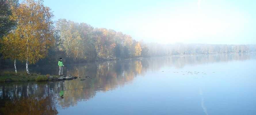 Søen der ikke ligger mere end en kort gåtur fra hotellet emmer af ro og er garant for gode gåture.