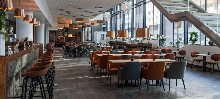 På Malmø Arena Hotel kan dere bo i moderne og stilrene omgivelser nær byens sentrum og områdets mange severdigheter.