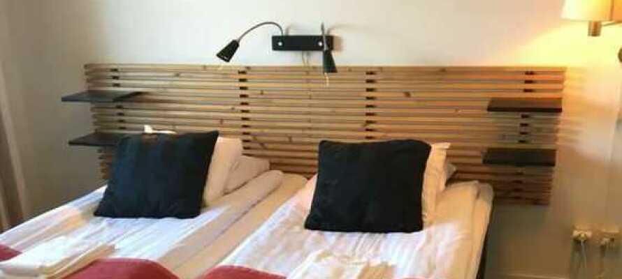 Hotellets værelser udgør en komfortabel under opholdet i Markaryd.
