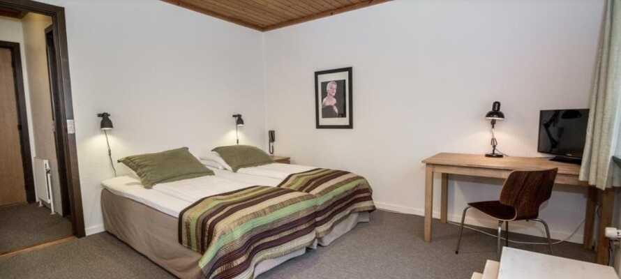 Alle rommene har eget bad og er utstyrt med tv. Dette rolige hotellet er en ypperlig base for å utforske resten av Sjelland.