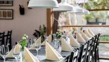 I hotellets restaurang Bregnen serveras mat baserad på säsongens råvaror.