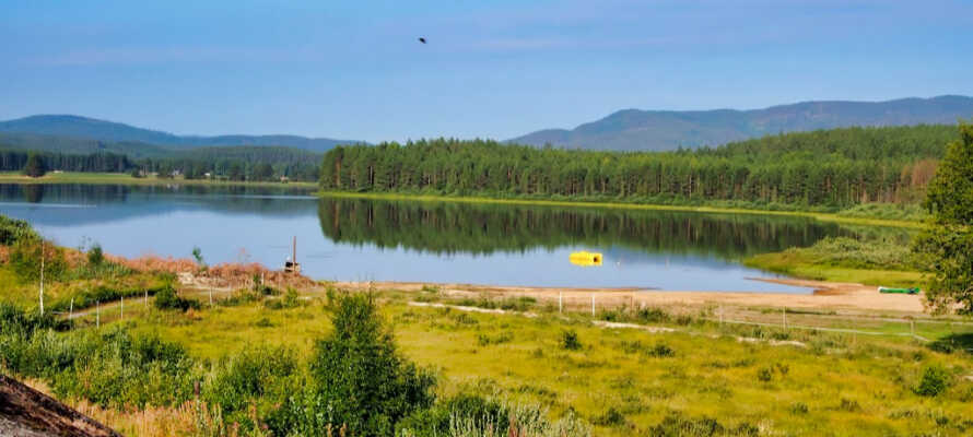 Vallekilen med bade og fiske muligheter rett ved hotellet
