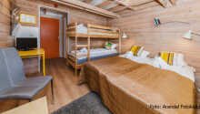Familierom med fire sengeplasser