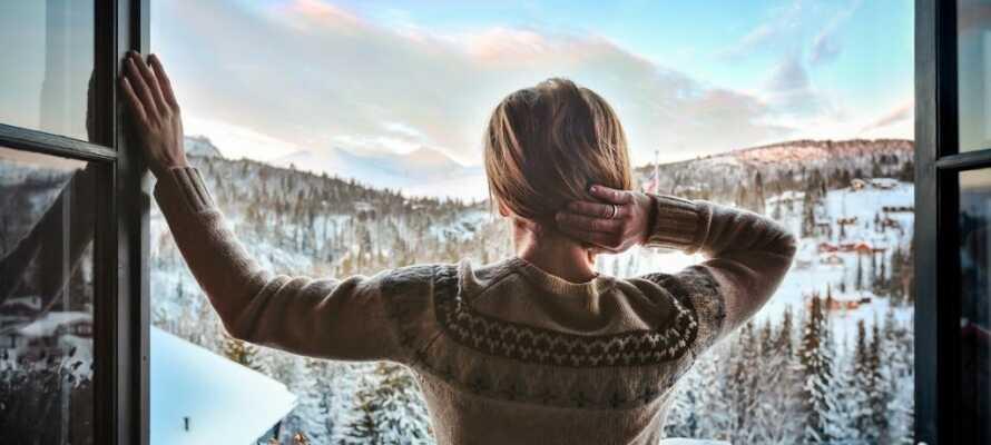 Verbringen Sie einen herrlichen Urlaub, umgeben von der zauberhaften Winterlandschaft.