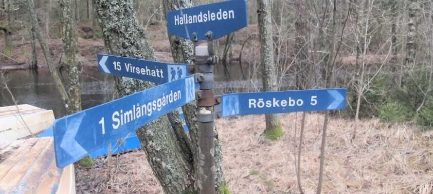 Hallandsleden er en 36 mil lang tursti gjennom Halland som forbinder Skånestien i sør med Bohusstien mot nord.