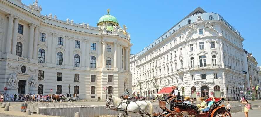 Imponeras av Wiens vackra arkitektur! Se t.ex. det forna kejserliga residensslottet Hofburg från 1200-talet.