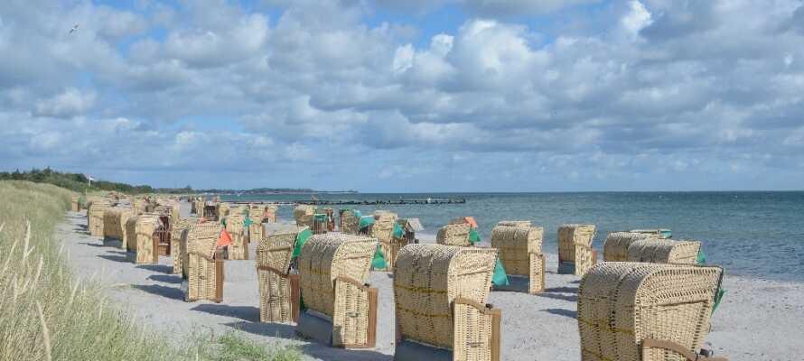 Femern har over 70 km. kystlinie og her finder I en lang række dejlige badestrande.