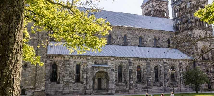 Känn historiens vingslag i Lunds Domkyrka med slående arkitektur, från 1145 som är sätet för Lunds biskop.