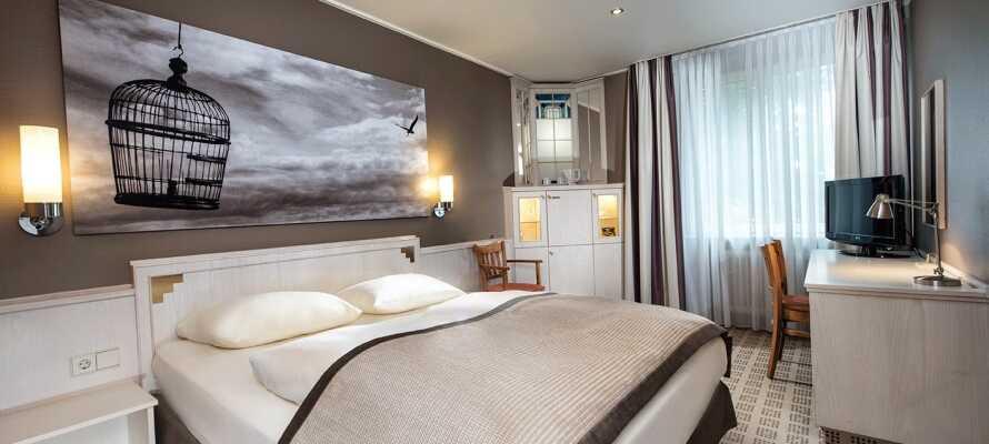 Die schönen Hotelzimmer bieten einen entspannenden und komfortablen Rahmen für Ihren Kurzurlaub.