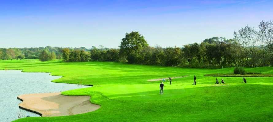 Aktiv semester med en runda golf på en av hotellets egna golfbanor.