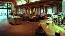 Restaurant med landlig atmosfære