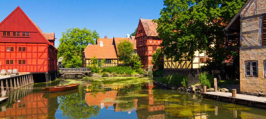 Dra på en reise i tid i Den Gamle By, en tidsreise for hele familien i en helt unik severdighet i Aarhus.