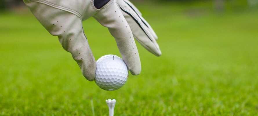 Golfentusiasterne kan glæde sig over, at der ligger hele 8 golfbaner indenfor en halv times kørsel.