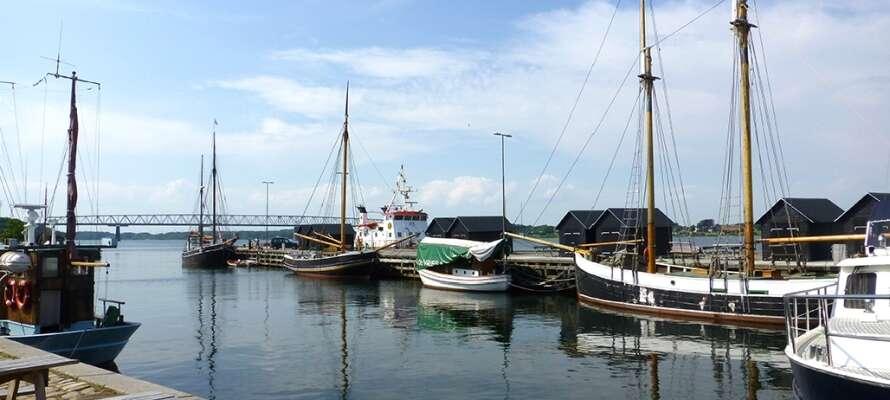 Kun 12 km fra hotellet ankommer I til Fyn og øens mange seværdigheder. Besøg f.eks. Middelfart.