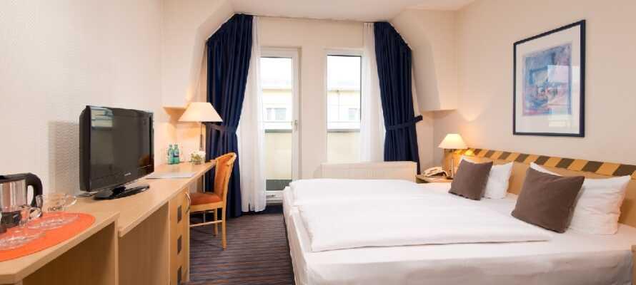 På hotellet kan I få en god nats søvn efter en lang dag fyldt med nye oplevelser og indtryk.