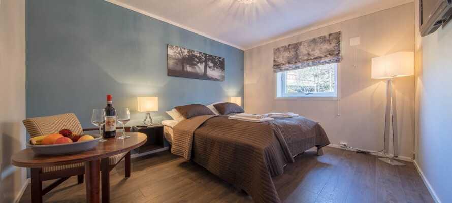 Hotellets rom er individuelt innredet og skaper en god base for deres opphold i Valdres