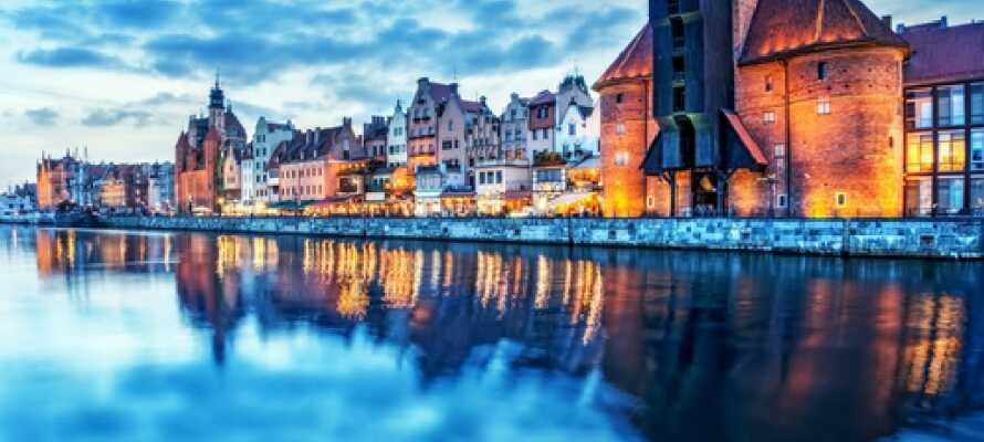 Den vakre byen, Gdansk, byr på mange overraskelser; gå en tur gjennom det historiske bysentrumet eller langs den vakre havnen.