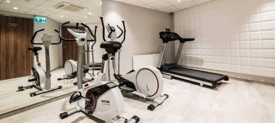 Der er også muligheder for at bevæge musklerne lidt mere intensivt i hotellets træningslokale