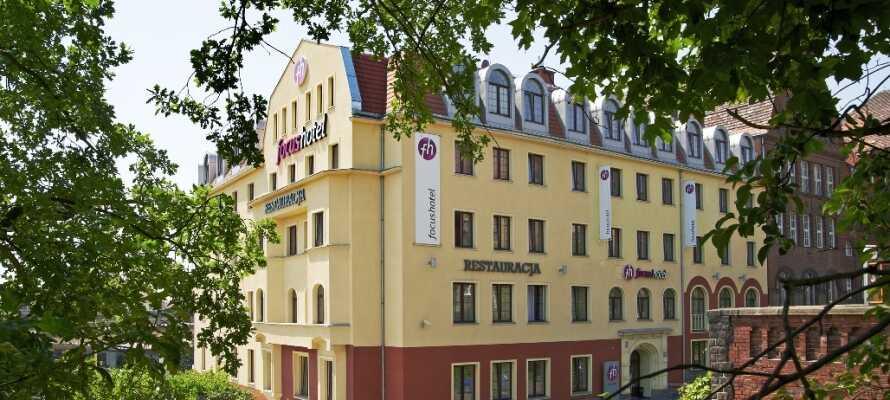 Hotellet har 119 moderne og komfortable værelser, beliggende tæt på Stettin-centrum