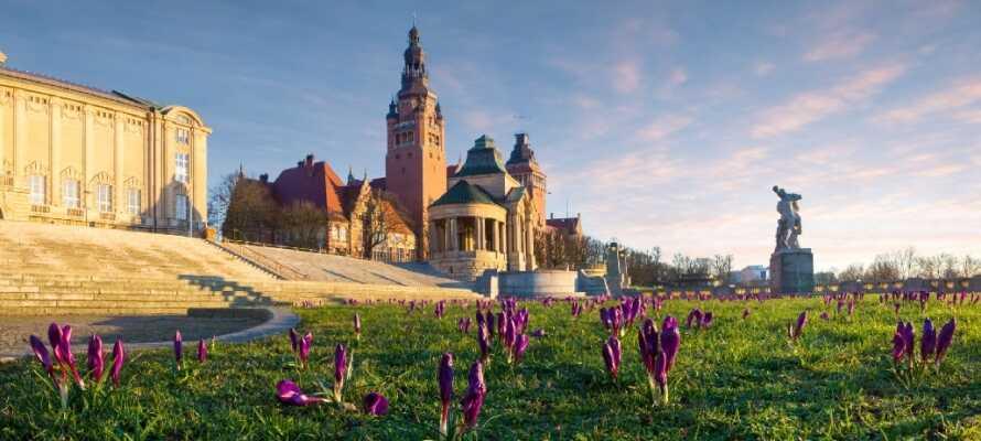 Haken Terrace ligger i Stettin, detta är en av stadens många sevärdheter att upptäcka under en minisemester.