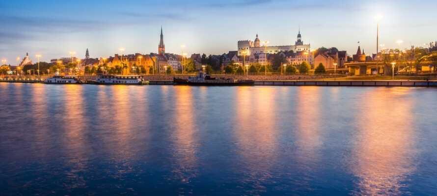 Stettin är en upplevelserik stad och om kvällarna kan ni njuta av solnedgången över den historiska staden.