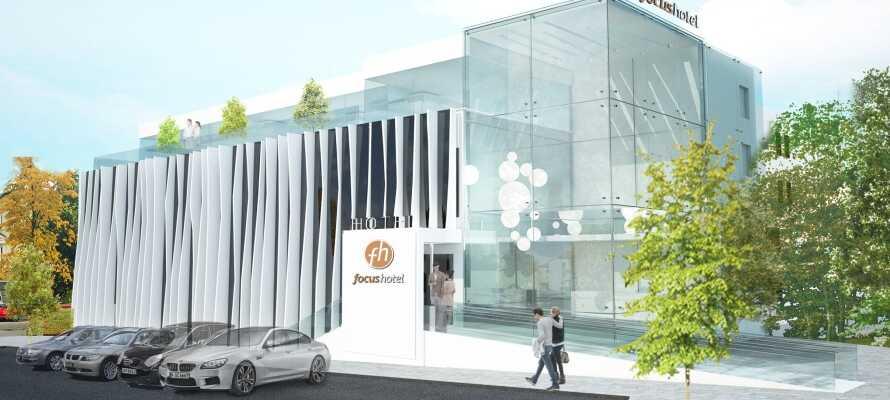 Focus Hotel Premium Sopot åbnede i 2018 og her kan I bo i meget smarte og stilfulde omgivelser.