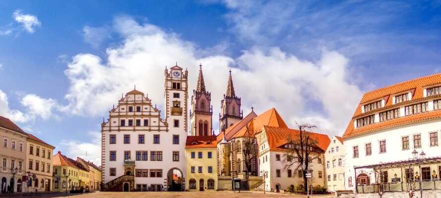 Detta trevliga värdshus-hotell från 1458 har ett perfekt läge i hjärtat av den charmerande staden Oschatz.
