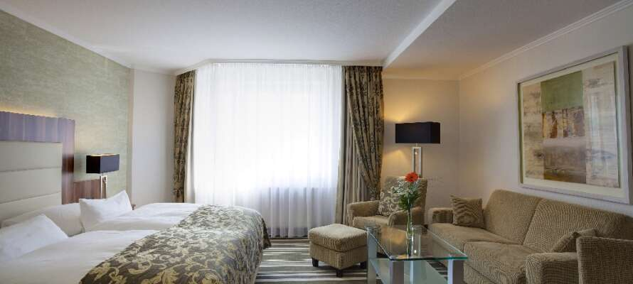 Die wunderschönen Premium-Zimmer befinden sich in ruhiger Lage im Gebäude und sind alle in einem attraktiven, funktionalen Design eingerichtet.