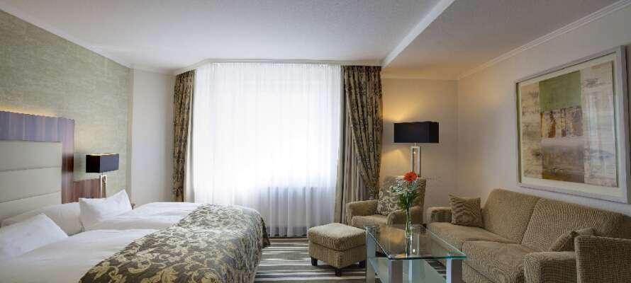 De flotte premiumværelser har en rolig placering i bygningen og er alle indrettet i et lækkert og funktionelt design.