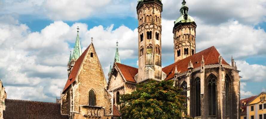 Naumburg gemmer på mange oplevelser og især den flotte domkirke er et eftertragtet turistmål.