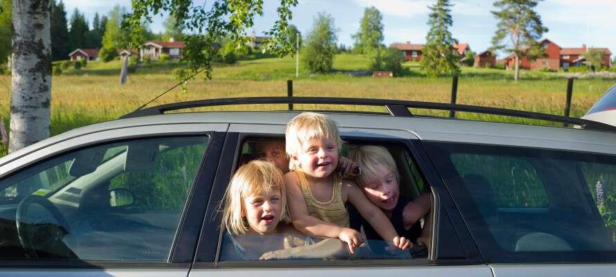 Tag hele familien med på en bilferie til det dejlige Dalarna.