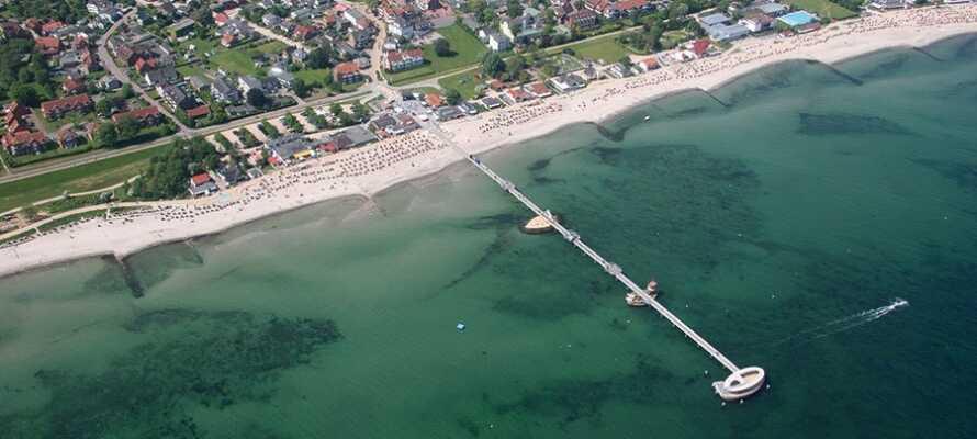 Det här familjevänliga wellnesshotellet är en oas av välbefinnande, nära stranden i den Nordtyska badorten Kellenhusen.