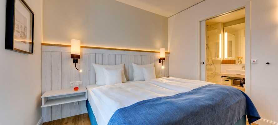 De lyse og behagelige værelser udstråler alle en ganske særlig ro og følelse af velvære.