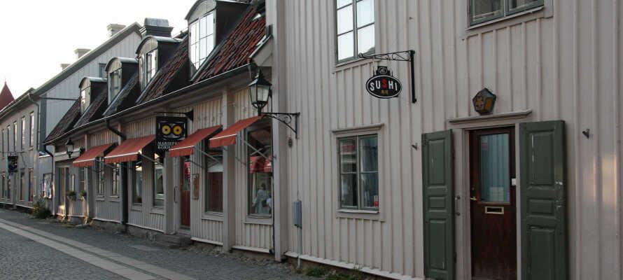 Mariefreds maleriske bymidte er ekstremt gangbar og fyldt med charmerende butikker og caféer.