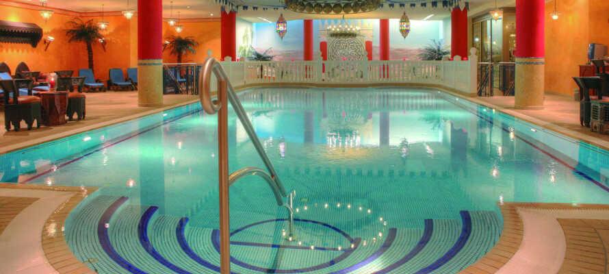 Nyd ferielivet med forkælelse i hotellets 1.200 m² store wellnessområde,