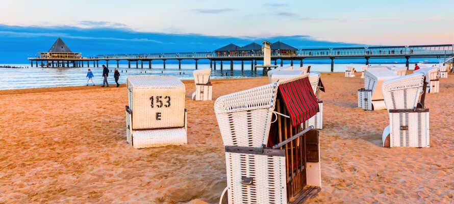 I har den smukke strandpromenade indenfor kort gåsfstand.